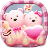 icon Launcher Theme(Leuke beer roze harten thema) 3.9.9