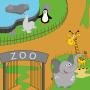 icon Trip to the zoo for kids(Reis naar de dierentuin voor kinderen)