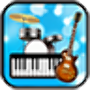 icon Band Game(Bandspel: piano, gitaar, drum)
