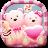 icon Launcher Theme(Leuke beer roze harten thema) 3.9.5