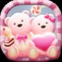 icon Launcher Theme(Leuke beer roze harten thema)